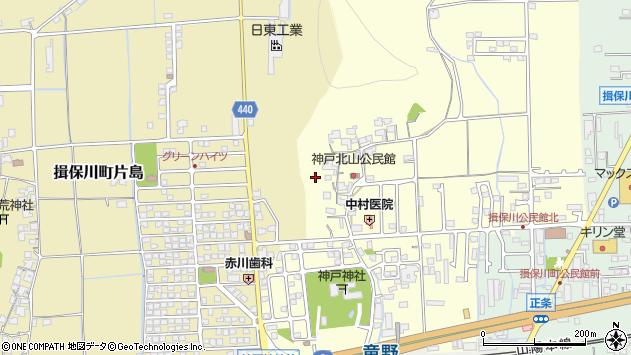 〒671-1643 兵庫県たつの市揖保川町神戸北山の地図