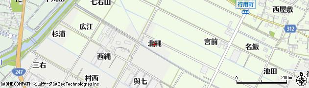 愛知県西尾市一色町開正(北縄)周辺の地図