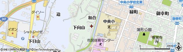 愛知県蒲郡市神ノ郷町(和合)周辺の地図