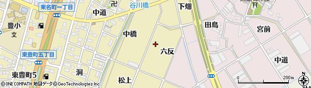 愛知県豊川市谷川町(東浦)周辺の地図