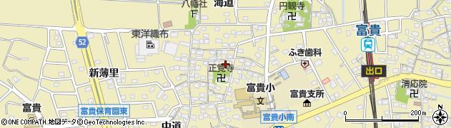 愛知県武豊町(知多郡)冨貴(郷北)周辺の地図