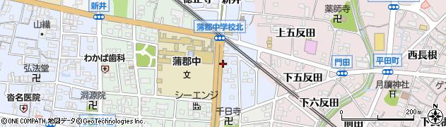 愛知県蒲郡市新井形町(前道下)周辺の地図