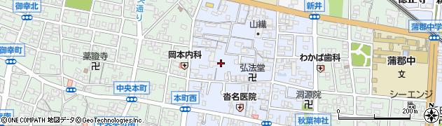 愛知県蒲郡市本町周辺の地図