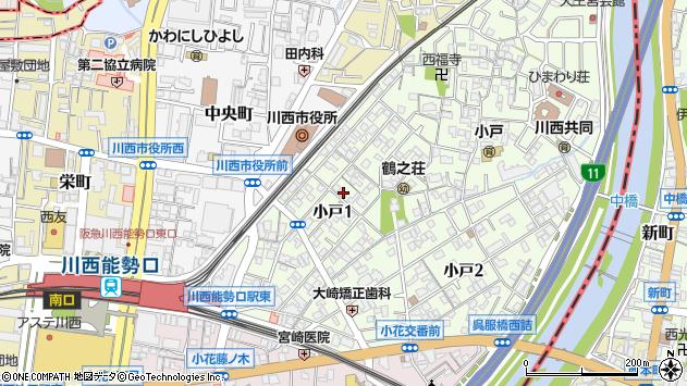 〒666-0014 兵庫県川西市小戸の地図