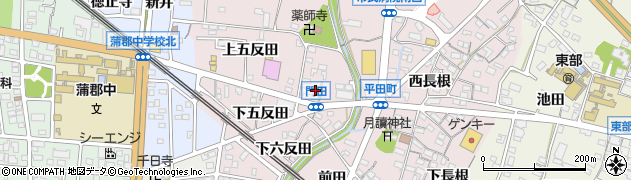 愛知県蒲郡市平田町(門田)周辺の地図
