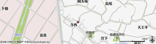 愛知県豊橋市石巻小野田町(寺西)周辺の地図