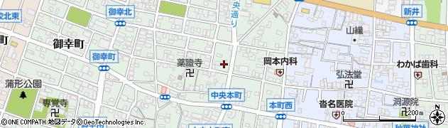 愛知県蒲郡市中央本町周辺の地図