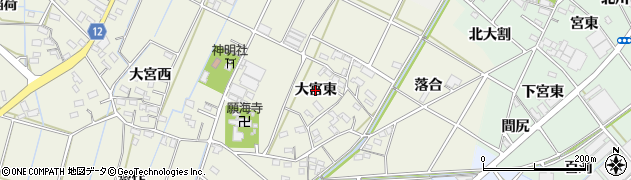 愛知県西尾市市子町(大宮東)周辺の地図