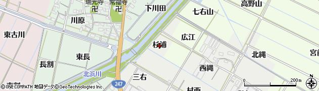 愛知県西尾市一色町開正(杉浦)周辺の地図