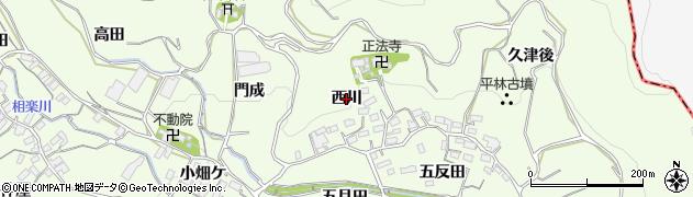 愛知県蒲郡市相楽町(西川)周辺の地図