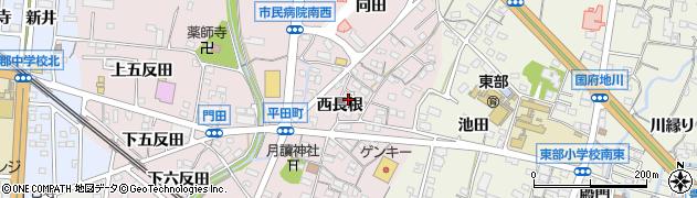 愛知県蒲郡市平田町(西長根)周辺の地図