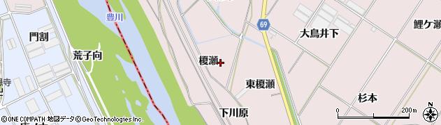 愛知県豊橋市賀茂町(榎瀬)周辺の地図