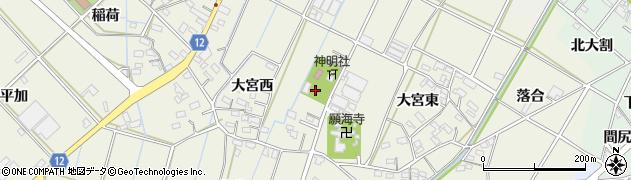 愛知県西尾市市子町周辺の地図