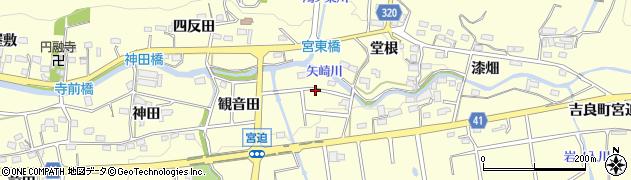 愛知県西尾市吉良町宮迫周辺の地図