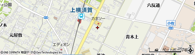 愛知県西尾市吉良町上横須賀(綿打)周辺の地図