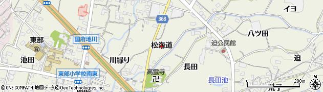 愛知県蒲郡市豊岡町(松海道)周辺の地図
