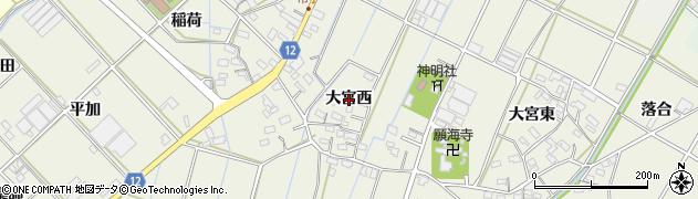 愛知県西尾市市子町(大宮西)周辺の地図
