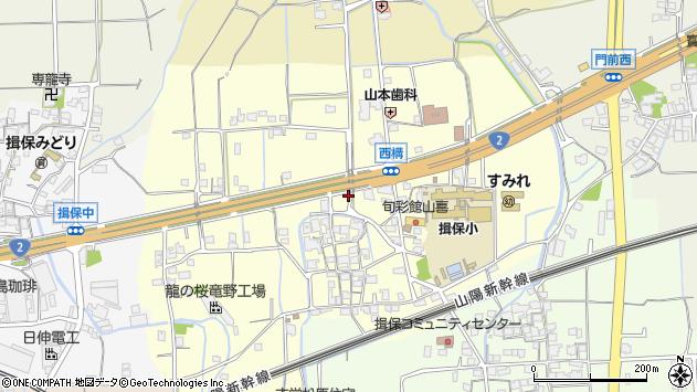 〒679-4154 兵庫県たつの市揖保町西構の地図