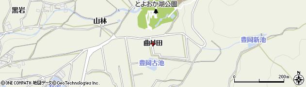 愛知県蒲郡市豊岡町(曲り田)周辺の地図