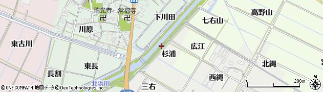 愛知県西尾市一色町開正(杉浦新田)周辺の地図