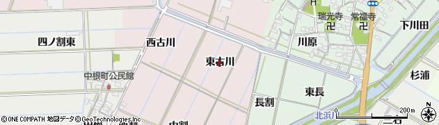 愛知県西尾市巨海町(東古川)周辺の地図