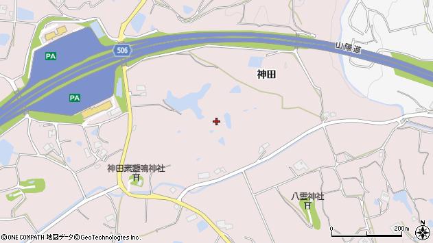 〒651-1622 兵庫県神戸市北区淡河町神田の地図