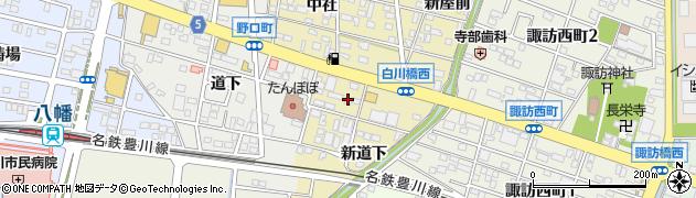 愛知県豊川市市田町(大道下)周辺の地図