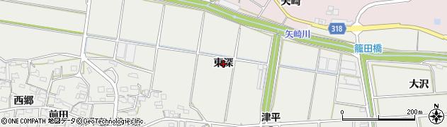 愛知県西尾市吉良町津平(東深)周辺の地図