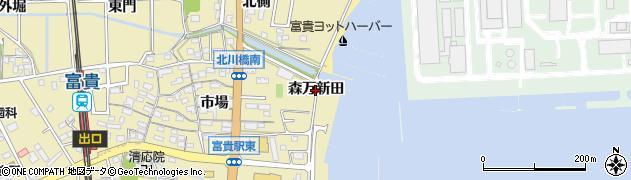 愛知県武豊町(知多郡)冨貴(森万新田)周辺の地図