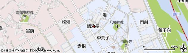 愛知県豊川市二葉町(鍜治屋)周辺の地図