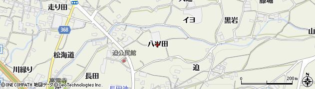 愛知県蒲郡市豊岡町(八ツ田)周辺の地図