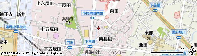 愛知県蒲郡市平田町(松下)周辺の地図