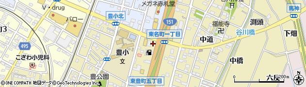 愛知県豊川市谷川町(西浦)周辺の地図