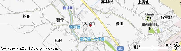 愛知県豊川市御津町豊沢周辺の地図