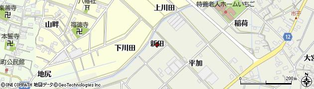愛知県西尾市市子町(新田)周辺の地図