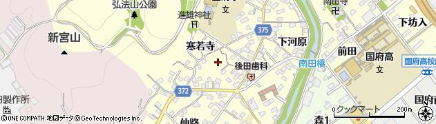 愛知県豊川市国府町(向河原)周辺の地図