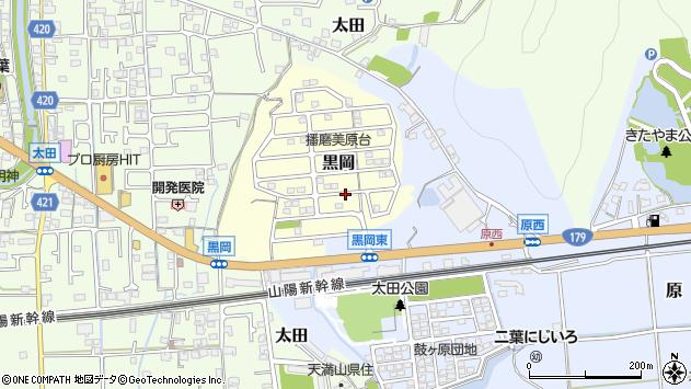 〒671-1504 兵庫県揖保郡太子町黒岡の地図