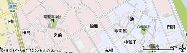 愛知県豊川市麻生田町(桧畑)周辺の地図