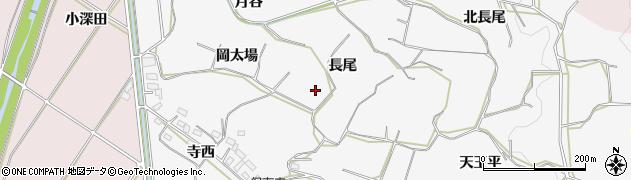 愛知県豊橋市石巻小野田町(長尾)周辺の地図