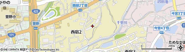 藤和箕面ホームズ周辺の地図