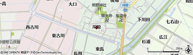 愛知県西尾市刈宿町(川原)周辺の地図