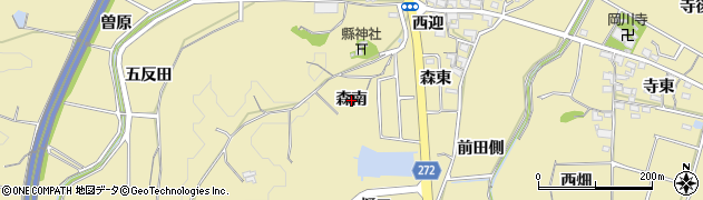 愛知県武豊町(知多郡)冨貴(森南)周辺の地図