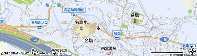 兵庫県西宮市名塩周辺の地図