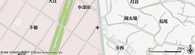 愛知県豊橋市賀茂町(小深田)周辺の地図