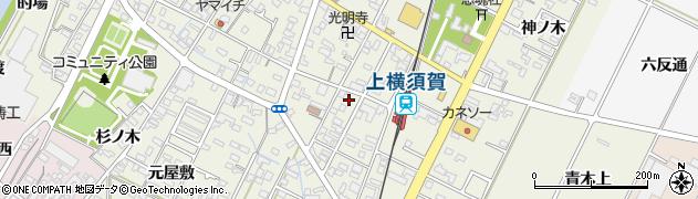 愛知県西尾市吉良町上横須賀(宮前)周辺の地図