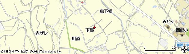 愛知県豊橋市石巻平野町(下郷)周辺の地図