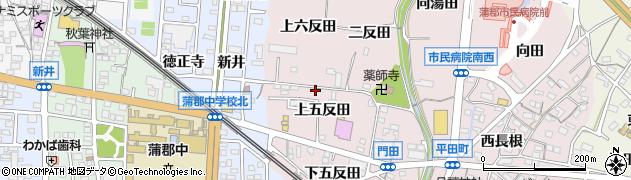 愛知県蒲郡市平田町(上五反田)周辺の地図