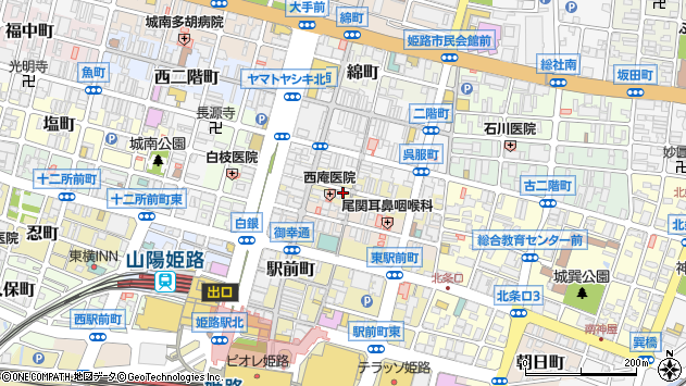 〒670-0924 兵庫県姫路市紺屋町の地図