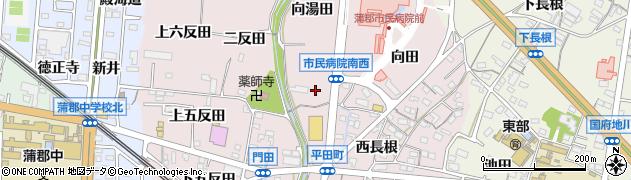 愛知県蒲郡市平田町周辺の地図