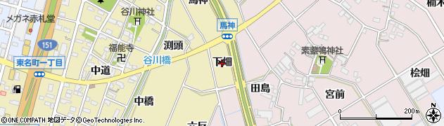 愛知県豊川市谷川町(下畑)周辺の地図